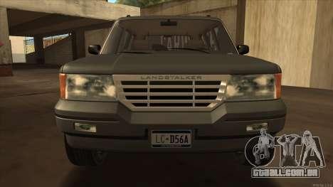 Landstalker HD from GTA 3 para GTA San Andreas traseira esquerda vista