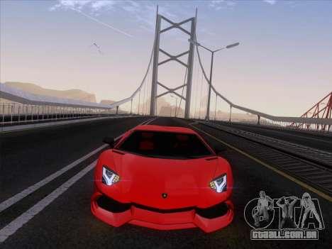 Lamborghini Aventador LP720-4 2013 para GTA San Andreas vista traseira