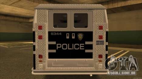 Enforcer HD from GTA 3 para GTA San Andreas vista direita