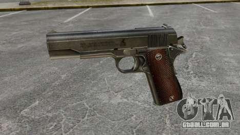 Colt M1911 pistola v4 para GTA 4 terceira tela