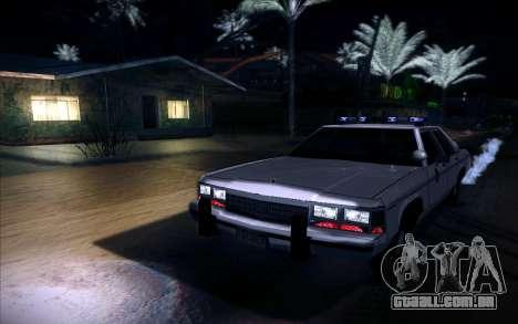 Police North Yankton para GTA San Andreas traseira esquerda vista