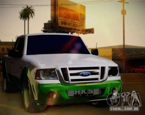 Ford Ranger 2005 para GTA San Andreas vista traseira