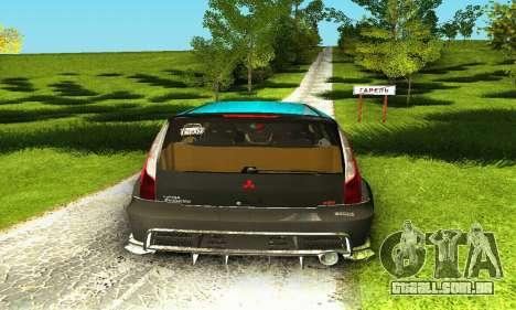 Mitsubishi Evo IX Wagon S-Tuning para GTA San Andreas vista superior