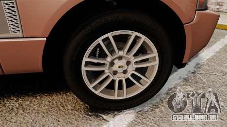 Range Rover TDV8 Vogue para GTA 4 vista de volta
