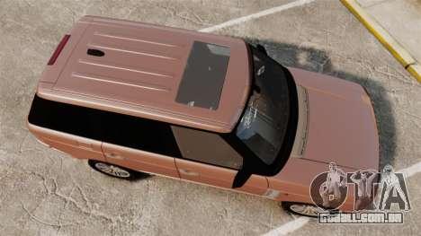 Range Rover TDV8 Vogue para GTA 4 vista direita