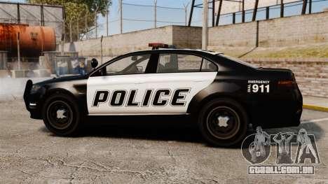 GTA V Vapid Police Interceptor para GTA 4 esquerda vista
