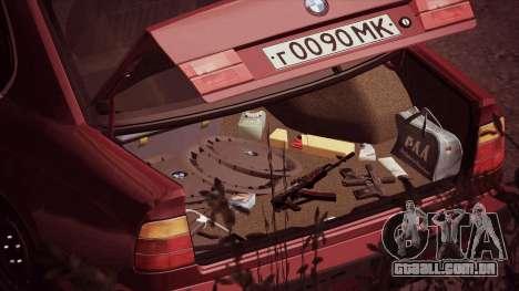 BMW 535i E34 para GTA San Andreas traseira esquerda vista