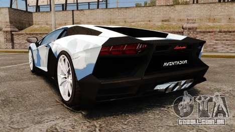 Lamborghini Aventador LP700-4 LE-C 2014 para GTA 4 traseira esquerda vista