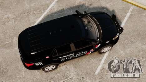 Ford Explorer 2013 Utility - Slicktop [ELS] para GTA 4 vista direita