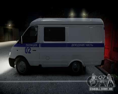 Polícia de gazela 2705 para GTA 4 traseira esquerda vista