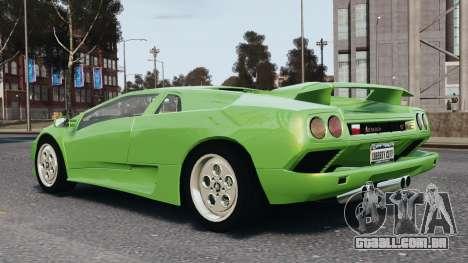 Lamborghini Diablo VT 1994 para GTA 4 vista superior