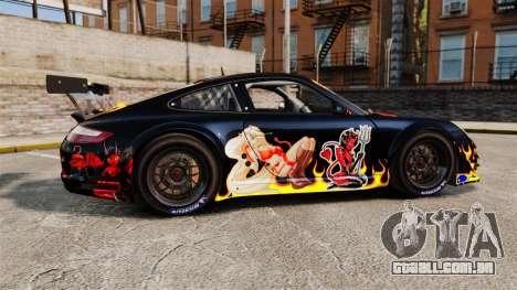 Porsche GT3 RSR 2008 Ddevil para GTA 4 esquerda vista