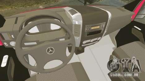 Mercedes-Benz Sprinter 2011 Australia Post para GTA 4 vista de volta