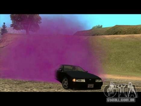 A nova cor de fumo debaixo das rodas para GTA San Andreas