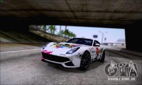 Ferrari F12 Berlinetta Horizon Wheels para GTA San Andreas vista interior