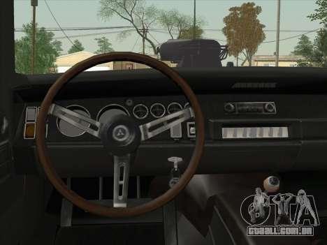 Dodge Charger RT V2 para GTA San Andreas vista interior