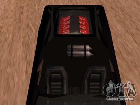 Sheetah Restyle para GTA San Andreas vista traseira