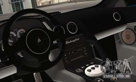 Lamborghini Murciélago 2005 para vista lateral GTA San Andreas