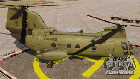 Boeing CH-46D Sea Knight para GTA 4 esquerda vista
