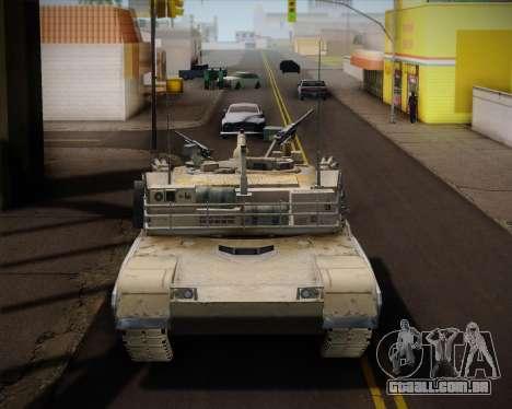 Abrams Tank Indonesia Edition para GTA San Andreas traseira esquerda vista