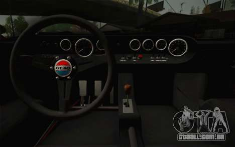 Ford GT40 MkI 1965 para GTA San Andreas vista interior