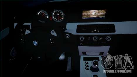 BMW M5 E60 para GTA 4 vista interior