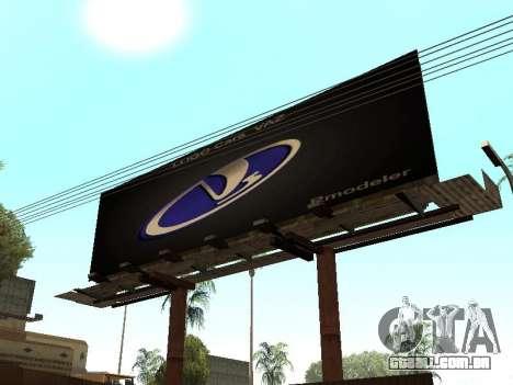 Novo parque de BMX para GTA San Andreas por diante tela