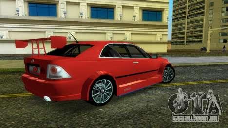 Lexus IS200 para GTA Vice City deixou vista