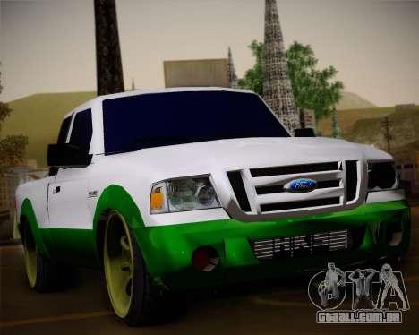 Ford Ranger 2005 para GTA San Andreas vista superior
