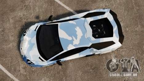 Lamborghini Aventador LP700-4 LE-C 2014 para GTA 4 vista direita