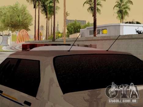 Yanton norte polícia Esperanto de GTA 5 para GTA San Andreas vista interior