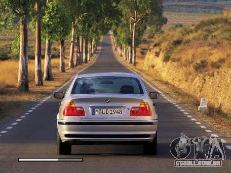 Telas de carregamento novo BMW para GTA San Andreas por diante tela