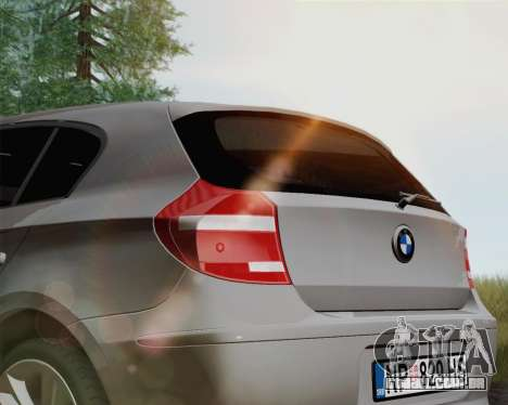 BMW 120i para GTA San Andreas traseira esquerda vista