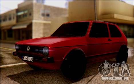 Volkswagen Golf Mk1 TAS para GTA San Andreas
