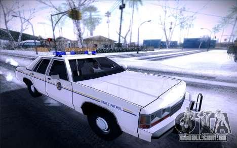 Police North Yankton para GTA San Andreas esquerda vista