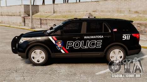 Ford Explorer 2013 Utility - Slicktop [ELS] para GTA 4 esquerda vista