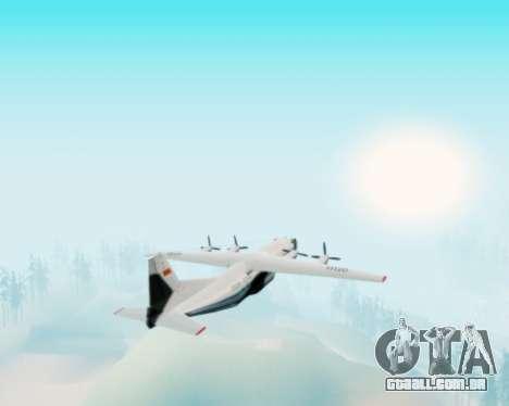 A Aeroflot an-12 para GTA San Andreas vista traseira