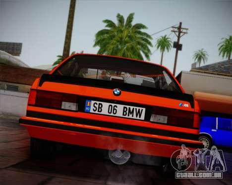 BMW E24 M635 1984 para GTA San Andreas vista superior