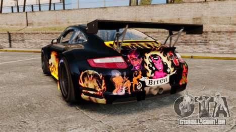 Porsche GT3 RSR 2008 Ddevil para GTA 4 traseira esquerda vista