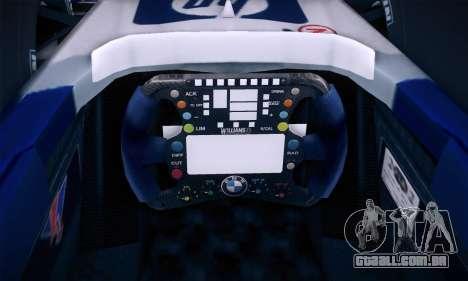 BMW Williams F1 para GTA San Andreas vista inferior