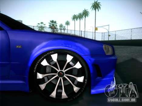 Nissan Skyline GTR para GTA San Andreas interior