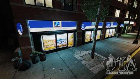 Lojas de Aldi para GTA 4 por diante tela