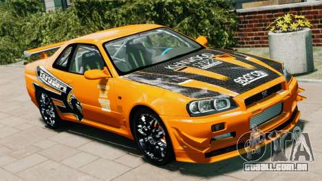 Nissan Skyline R34 GT-R NFS Underground para GTA 4