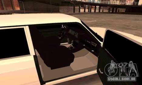VAZ 2107 para GTA San Andreas traseira esquerda vista