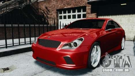 Mercedes-Benz CLS AMG para GTA 4 traseira esquerda vista