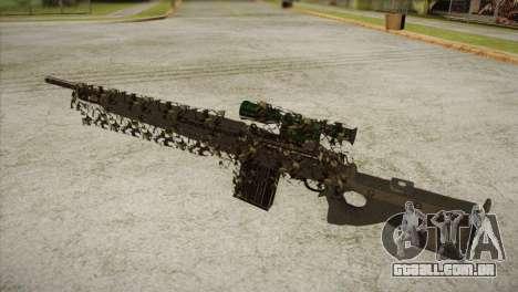 Sniper M-14 With Camouflage Grid para GTA San Andreas segunda tela