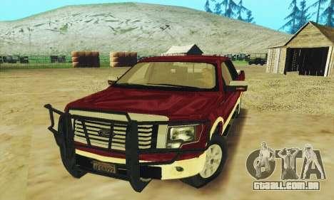 Ford F-150 KING RANCH Edition 2010 para GTA San Andreas vista superior
