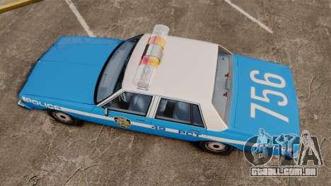 Chevrolet Caprice 1987 NYPD para GTA 4 vista direita