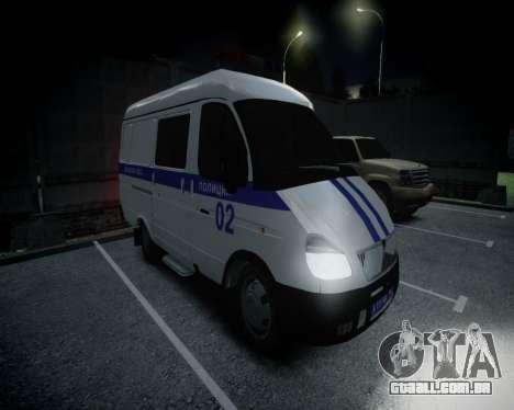 Polícia de gazela 2705 para GTA 4 esquerda vista