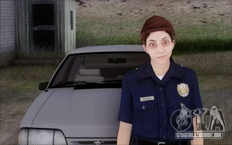 GTA 5 Police Woman para GTA San Andreas segunda tela